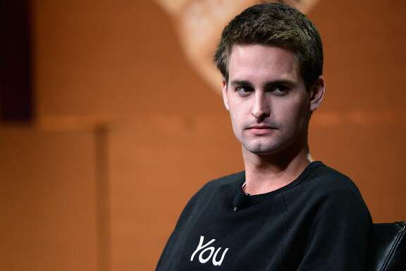 "SAN FRANCISCO, CA - OCTOBER 08:  Snapchat CEO Evan Spiegel speaks onstage during ""Disrupting Information and Communication"" at the Vanity Fair New Establishment Summit at Yerba Buena Center for the Arts on October 8, 2014 in San Francisco, California.  (Photo by Michael Kovac/Getty Images for Vanity Fair)"