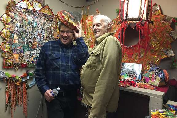 Russell Blackwood and costume designer/performer Billy Bowers.