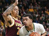 Javion Ogunyemi scored 16 points in Friday's loss to Iona. (John Carl D'Annibale/Times Union)