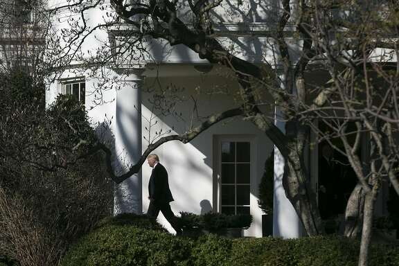 FILE � President Donald Trump leaves the Oval Office at the White House in Washington, Feb. 24, 2017. Signaling a potential major shift in policy, the president told news anchors Tuesday that he is open to a broad immigration overhaul. (Al Drago/The New York Times)