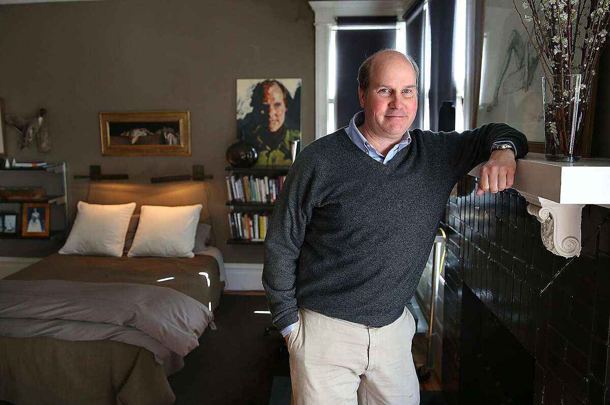 Lighting designer Robert Long shows his room at home on Monday, February 27, 2017, in Oakland, Calif.