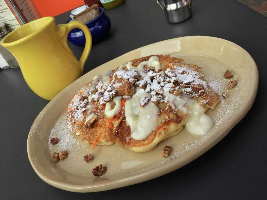 Carrot cake pancake at Snooze brunch restaurant. Photo: Edmund Tijerina /San Antonio Express-News / San Antonio Express-News