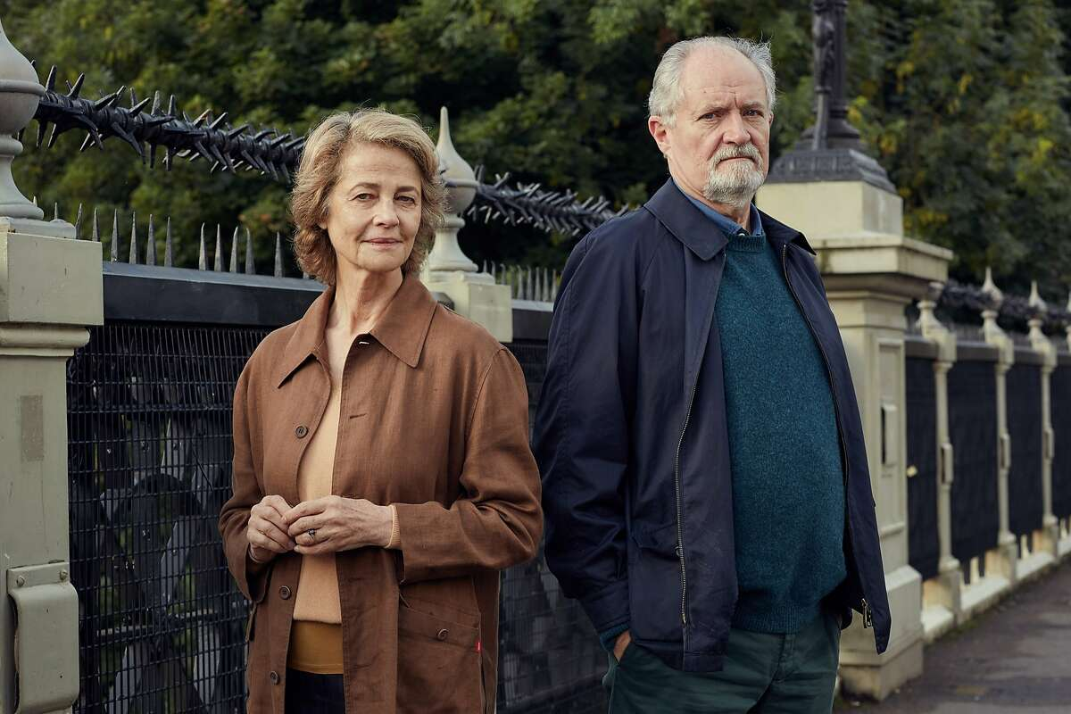"""L-R: Charlotte Rampling and Jim Broadbent as one-time friends who have become near strangers in """"The Sense of an Ending,"""" opening at Bay Area theaters on Friday, Mar. 17. Photo courtesy of CBS Films."""