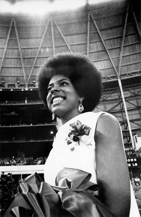 Lynn Cecelia Eusan was crowned homecoming queen at the University of Houston in 1968, just a few years after the school desegregated. Photo: Darrell Davidson, Houston Chronicle / Houston Chronicle