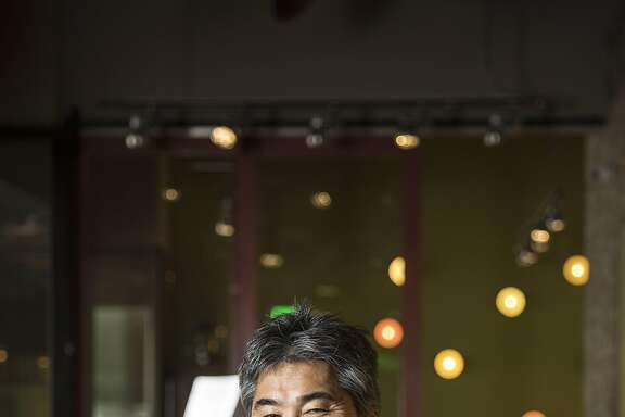 HONOLULU, HI - FEBRUARY 25: Chef Roy Yamaguichi, poses for a portrait at his restaurant, Eating House 1849, located at the newly renovated and reopened International Market Place in Waikiki February 25, 2017 in Honolulu, Hawaii.