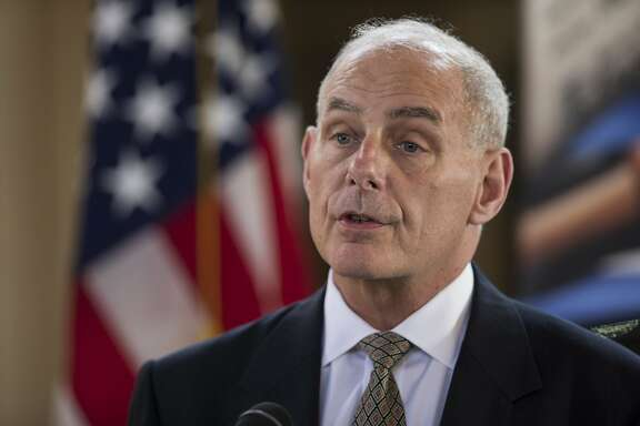 U.S. Secretary of Homeland Security John F. Kelly answers questions during a press conference at La Aurora Air Force Base in Guatemala City, Wednesday, Feb. 22, 2017. Kelly ends a two-day official visit and is traveling to Mexico next. (AP Photo/Moises Castillo)