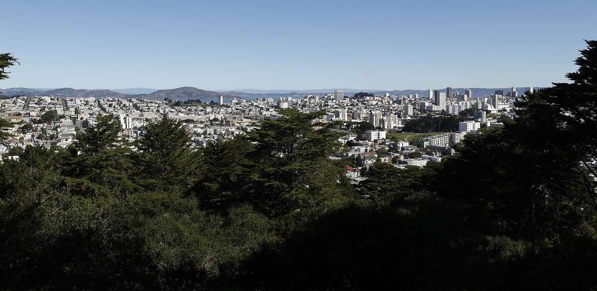 Buena Vista Park offers views of the City including the downtown and northern San Francisco areas.
