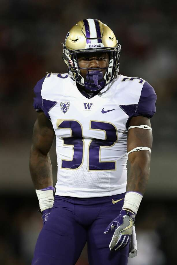 S Budda Baker WashingtonThe 5-foot-8 former Bellevue High School and Huskies star might get knocked down draft boards because of his size, but a good showing at the combine could take him out of the discussion at No. 26 overall. Photo: Christian Petersen/Getty Images