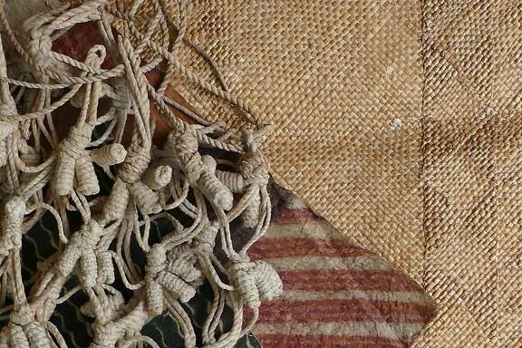 MultimediaHawaiian pattern and design were incorporated into daily life, exemplified here in printed bark cloth, knotted nets and a plaited mat, and the focus of a new exhibition at the Bishop Museum.