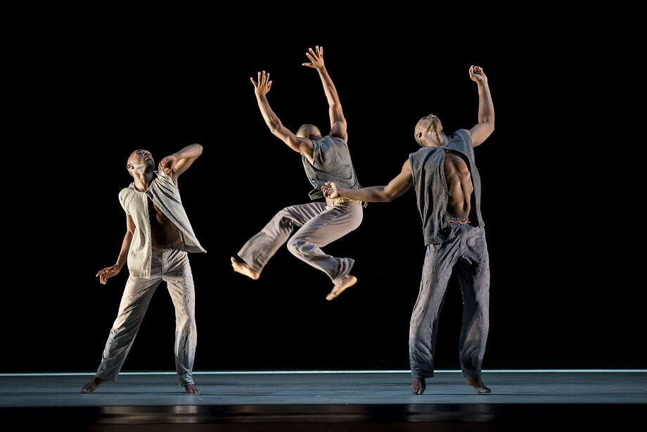 Need combo cap: Above: Alvin Ailey American Dance Theater in Kyle Abrahams Untitled America: Second Movement, which uses hip hop and contemporary movement to explore the impact of the U.S. prison system on African-American families. Below: Robert Battle, right, took the helm from Judith Jamison, one of the great interpreters of Alvin Aileys choreography and the companys artistic director for 21 years. Photo: Paul Kolnik