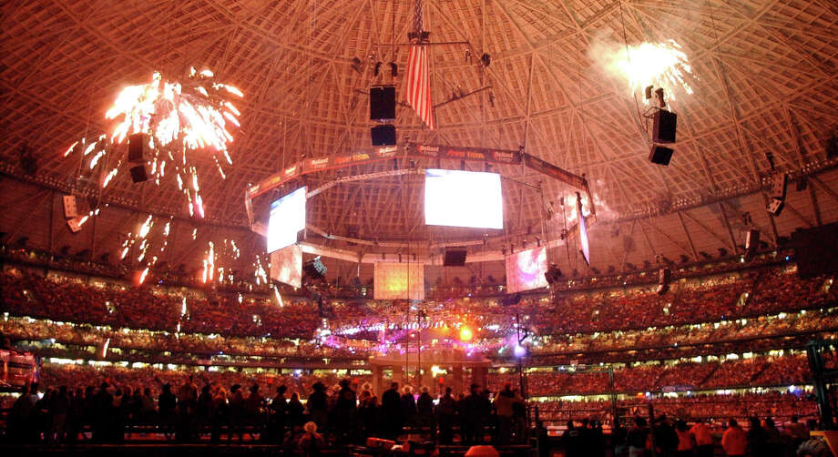 PHOTOS: RodeoHouston says goodbye to the Astrodome in 2002Fireworks light up the Reliant Astrodome during the opening night of the 2002 Houston Livestock Show & Rodeo. This marked the final year that the event was held in the Astrodome.Click through to see how the rodeo celebrated the milestone 15 years ago this week... Photo: Karl Stolleis/HOUSTON CHRONICLE