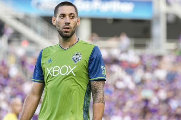 ORLANDO, FL - August 07: Clint Dempsey # 2 looks on after scoring a brace in the first half for the Seattle Sounders vs the Orlando City Lions at Citrus Bowl on August 07, 2016 in Orlando, Florida. (Photo by Zachary Scheffer/Getty Images)