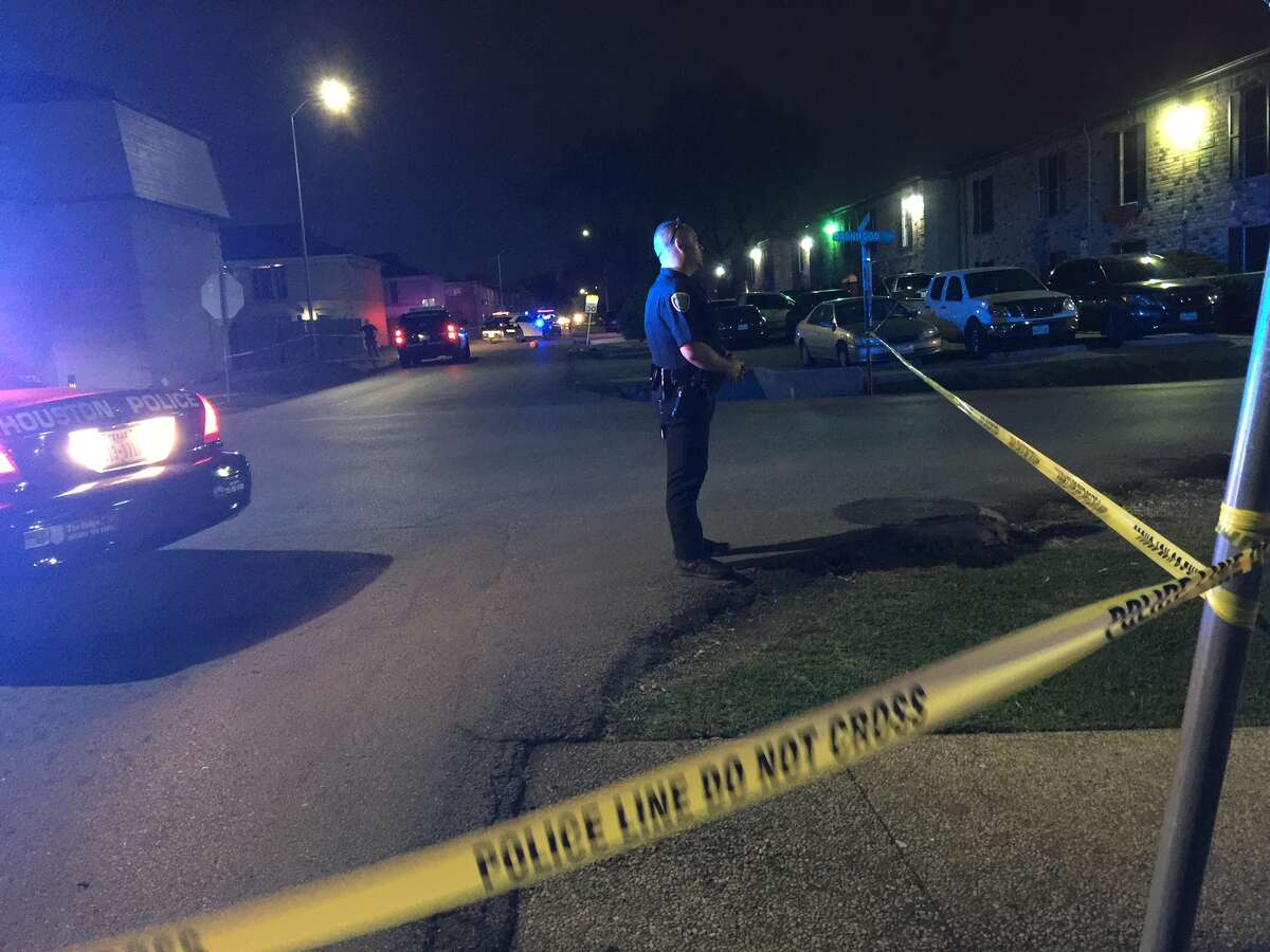 Police investigate after a double shooting in southwest Houston.