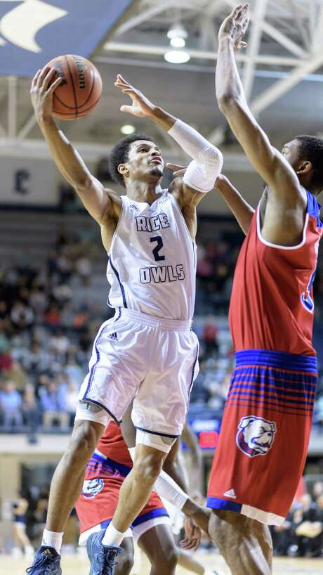 Guard Marcus Evans thinks Rice is good enough to win the C-USA tournament and make the NCAA field. Photo: Wilf Thorne / © 2017 Houston Chronicle