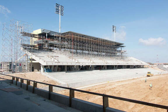 Katy ISD's second stadium, still under construction, was needed, officials said, because the district had seven schools playing at the current stadium.