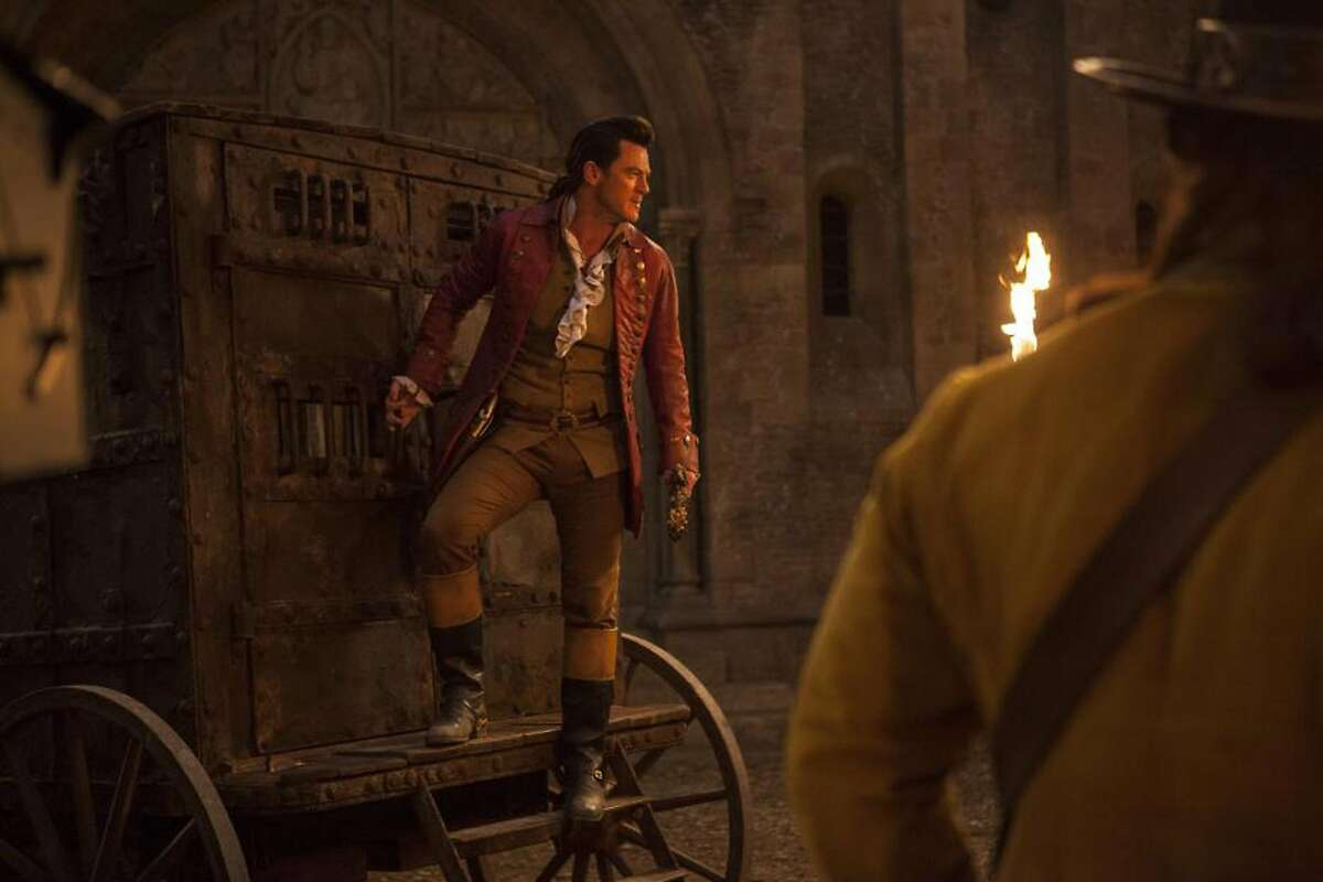 """Luke Evans as Gaston in """"Beauty and the Beast"""" (2017). Photo: Courtesy of Walt Disney Pictures"""