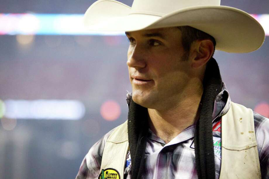 Bobby Mote competes in BP Super Series Semifinal 2 Bareback Riding competition at Reliant Stadium on Thursday, March 20, 2014, in Houston. ( Marie D. De Jesus / Houston Chronicle ) Photo: Marie D. De Jesus, Staff / © 2014 Houston Chronicle