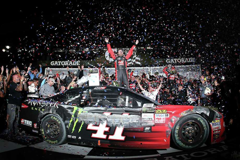 DAYTONA BEACH, FL - FEBRUARY 26:  Kurt Busch, driver of the #41 Haas Automation/Monster Energy Ford, celebrates in Victory Lane after winning the 59th Annual DAYTONA 500 at Daytona International Speedway on February 26, 2017 in Daytona Beach, Florida.  (Photo by Jared C. Tilton/Getty Images) Photo: Jared C. Tilton, Stringer / 2017 Getty Images