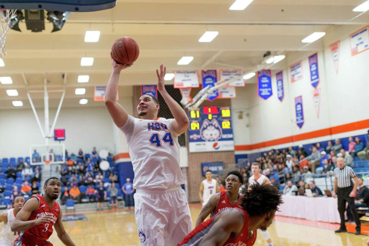 Houston Baptist's Josh Ibarra has played a key role in his team's recent hot streak with his gritty play on the boards.