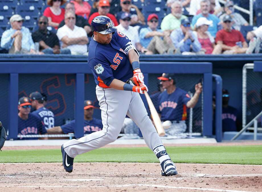 In two spring appearances, Carlos Beltran is a cool 2-for-3, including a home run Tuesday. Photo: Joel Auerbach, Stringer / 2017 Getty Images