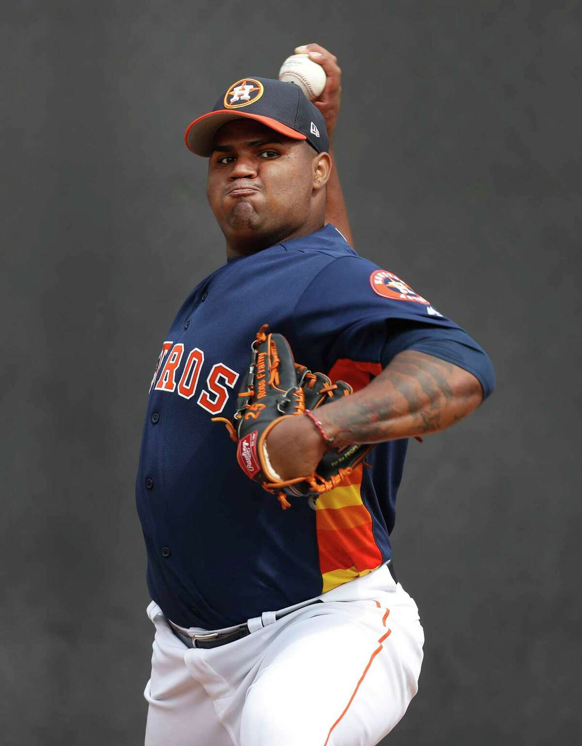 Frances Martes threw a 1-2-3 fourth against the heart of the Marlins' order in Wednesday's 9-5 Astros loss.