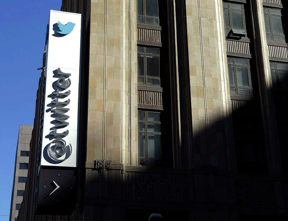 FILE - This Nov. 4, 2013, file photo shows the sign outside of Twitter headquarters in San Francisco. Twitter announced Wednesday, March 1, 2017, it is adding more new tools to curb abuse, part of an ongoing effort to protect its users from hate and harassment. It the second time in three weeks the company has released new features aimed at rooting out abusive content, signaling that it's getting more serious about the issue after being criticized for not doing enough in the decade since its founding. (AP Photo/Jeff Chiu, File) Photo: Jeff Chiu, STF / Copyright 2016 The Associated Press. All rights reserved. This material may not be published, broadcast, rewritten or redistribu