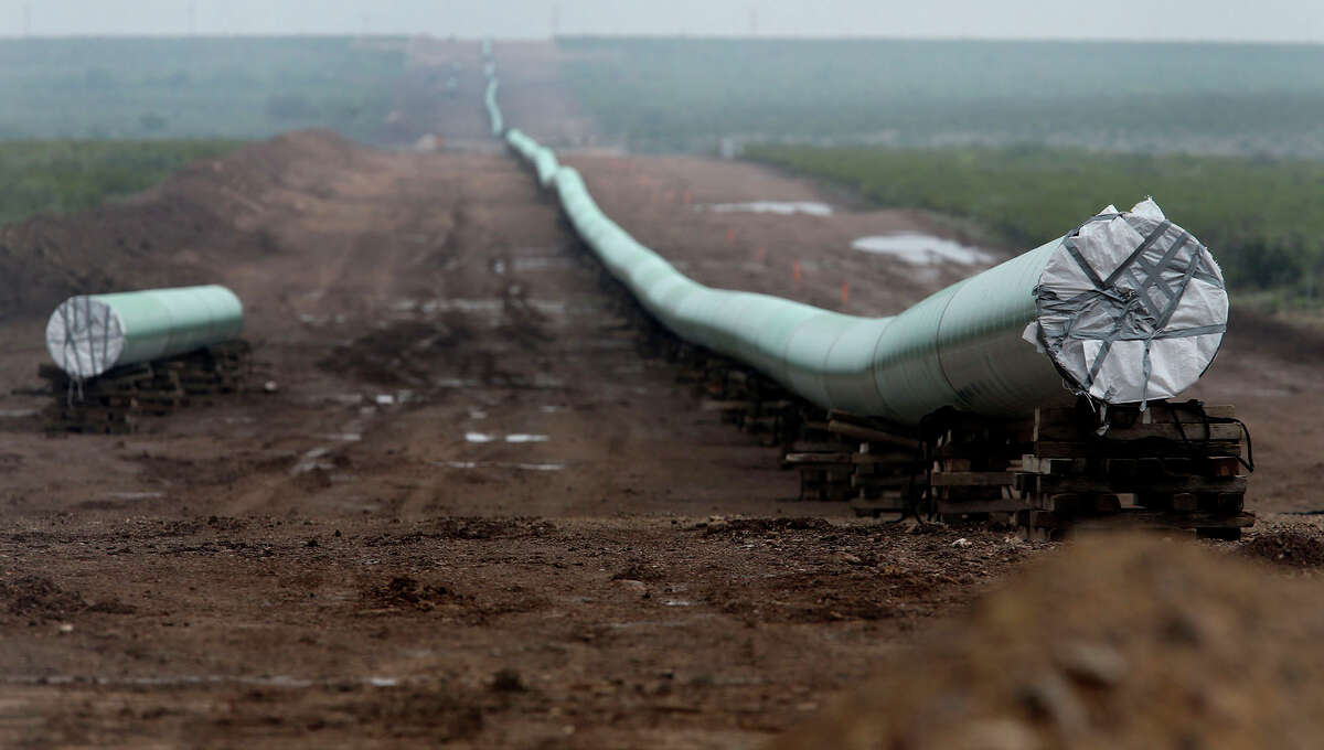 This 42-inch natural gas pipeline was being installed last August near Alpine, in West Texas.