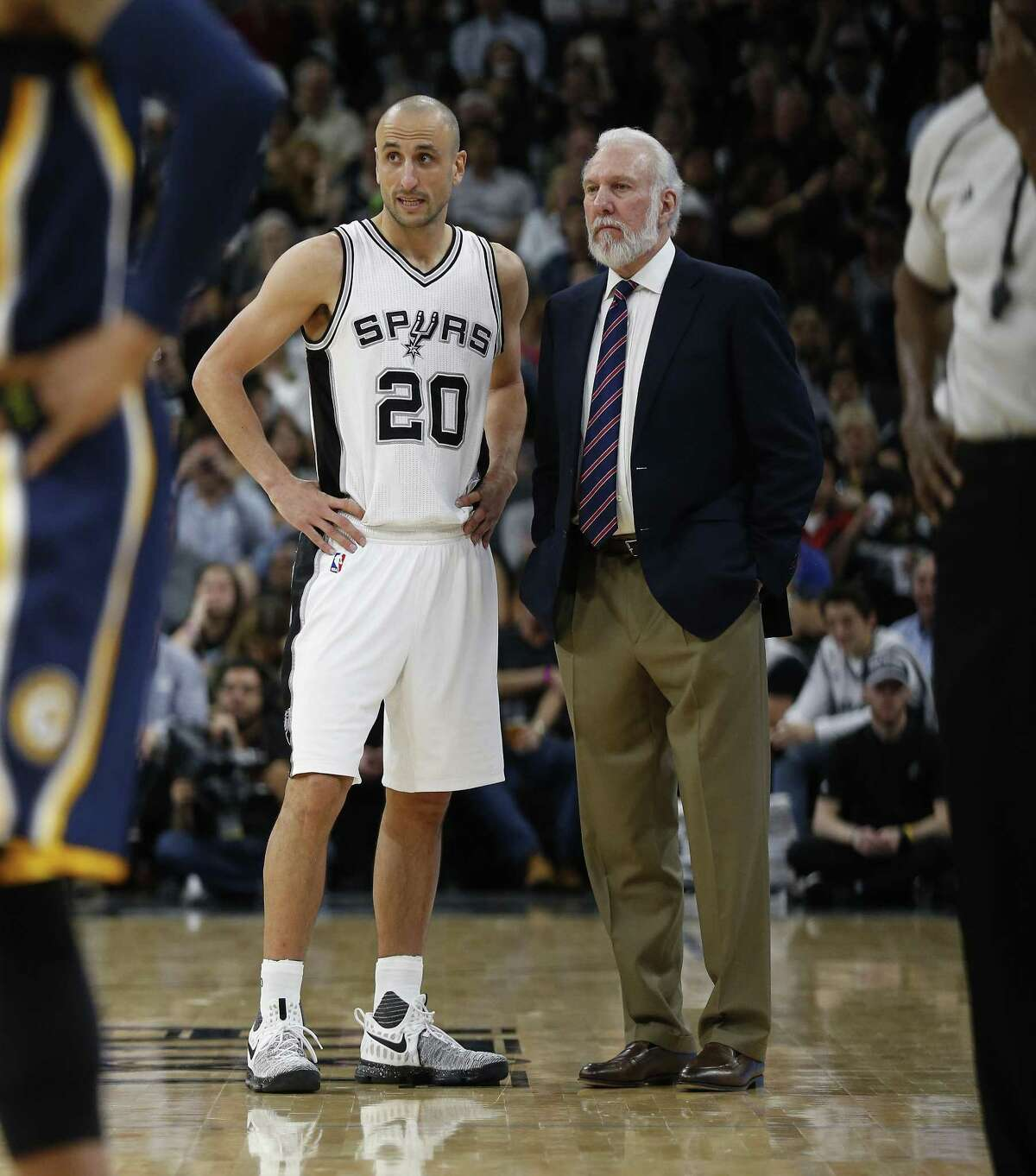 Manu Ginobili's relationship with Spurs head coach Gregg Popovich has evolved over the years.