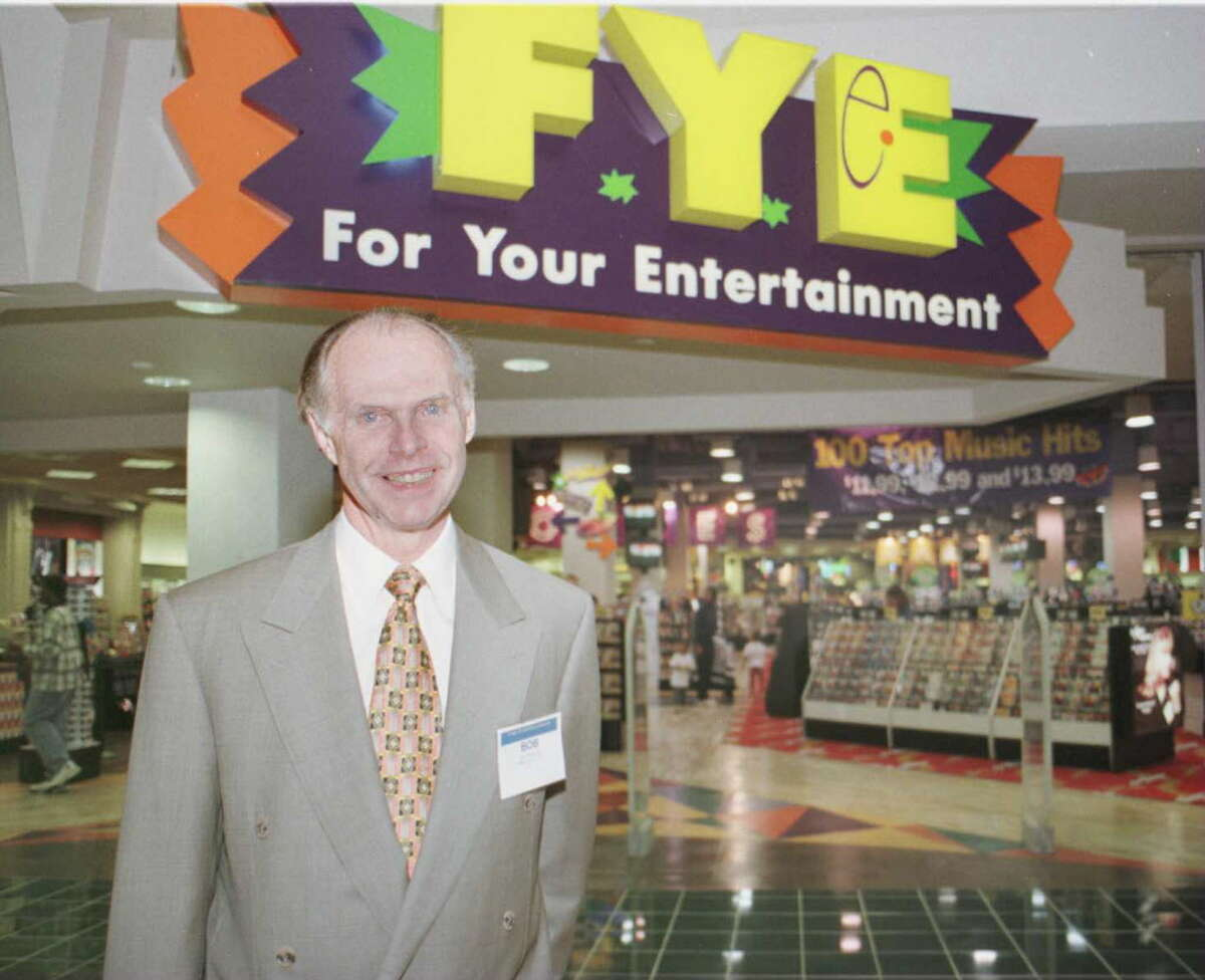 Robert Higgins outside the grand opening of his f.y.e. store at Colonie Center back in 1997.