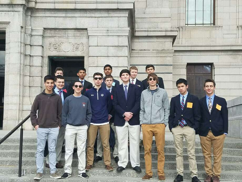 Members of Wilton High School Model Congress at Harvard Model Congress this past weekend, from Feb. 23-36. Photo: Contributed Photo