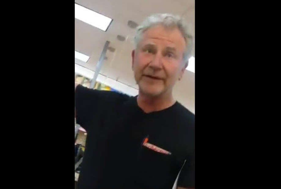 This unidentified customer at a Walmart in Irving, Texas, was filmed by a store employee after the man made racist comments about the employee and another shopper, Feb. 23, 2017. (Screen shot from Facebook video by Liz Colunga)Keep clicking to see a gallery of the ways immigrants help make Texas what it is: