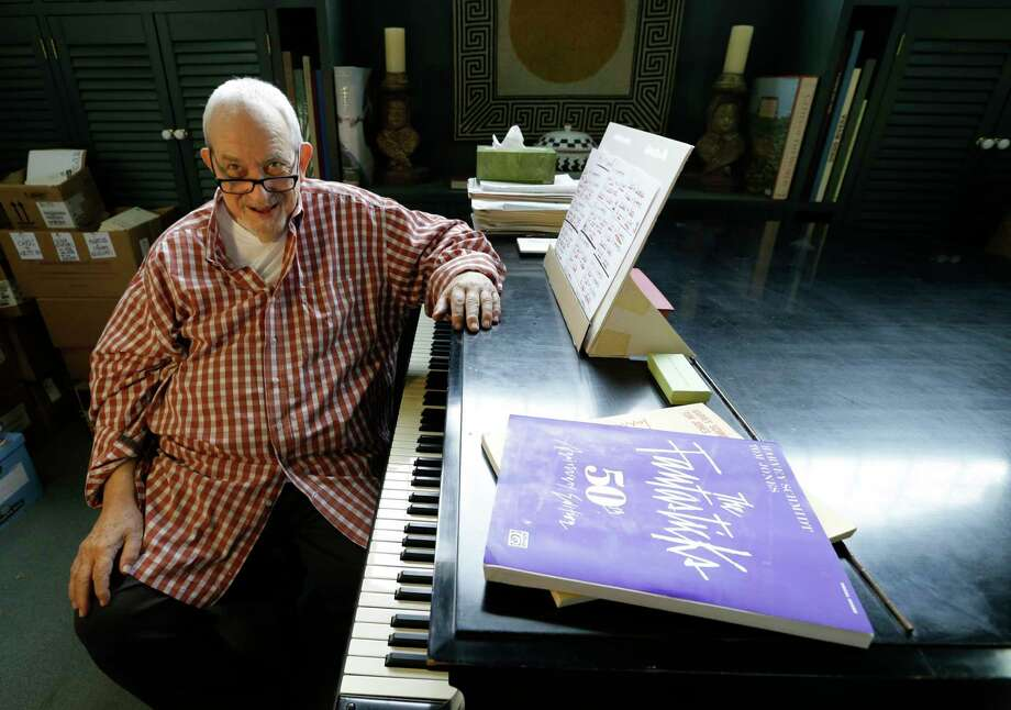 Harvey Schmidt talks while at the piano in his Tomball home Tuesday, Feb. 7, 2017. All of Schmidt's major musicals were written with lyricist Tom Jones. He is best known for composing the music for the longest running musical in history, The Fantasticks.  ( Melissa Phillip / Houston Chronicle ) Photo: Melissa Phillip, Staff / © 2017 Houston Chronicle