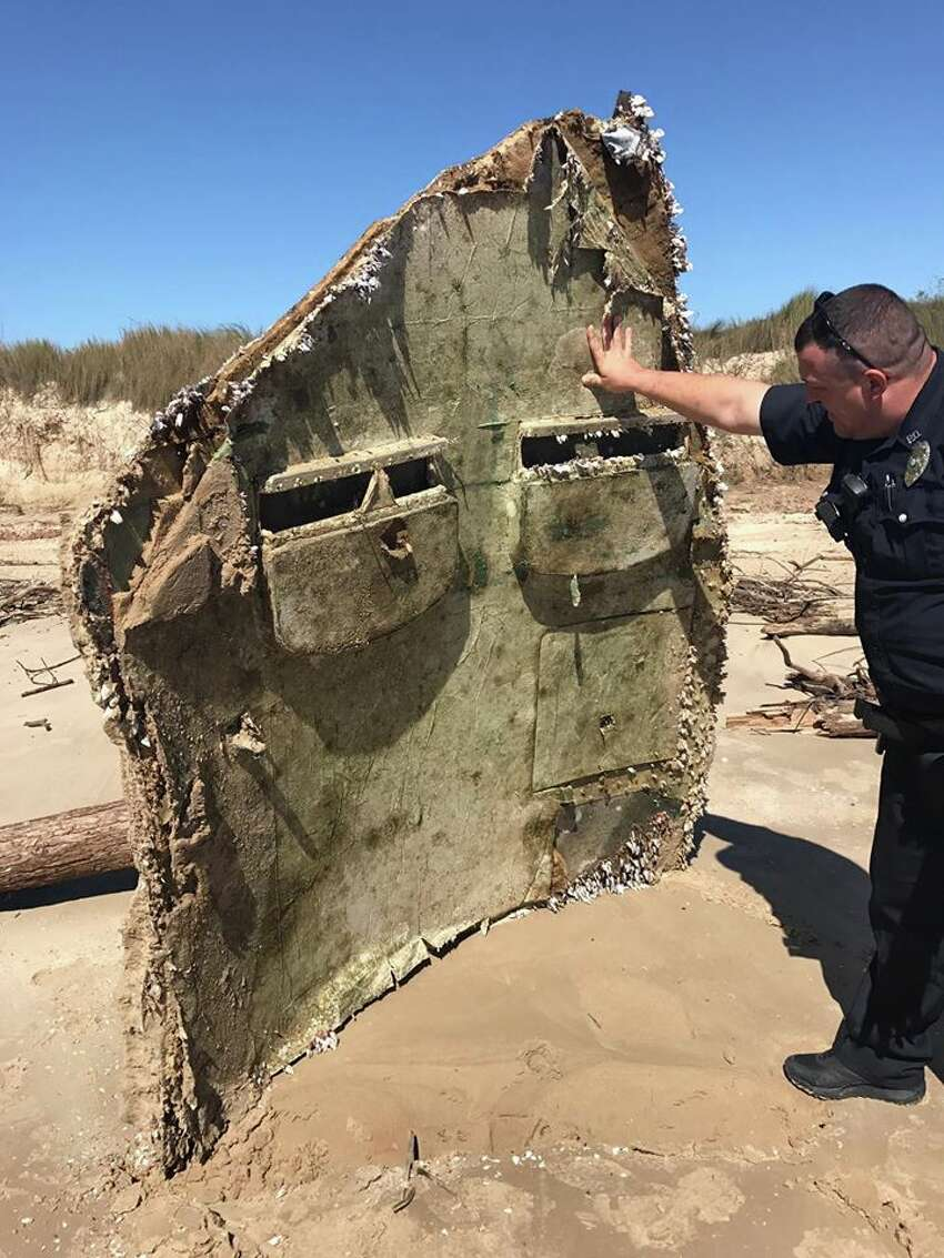 Piece of rocket ships washes ashore: Freeport Police found a piece of a rocket on a beach in town earlier in February 2017. After contacting multiple agencies, they learned the piece came from a rocket that took off in South America.More: Piece of rocket ship washes up on Texas beach
