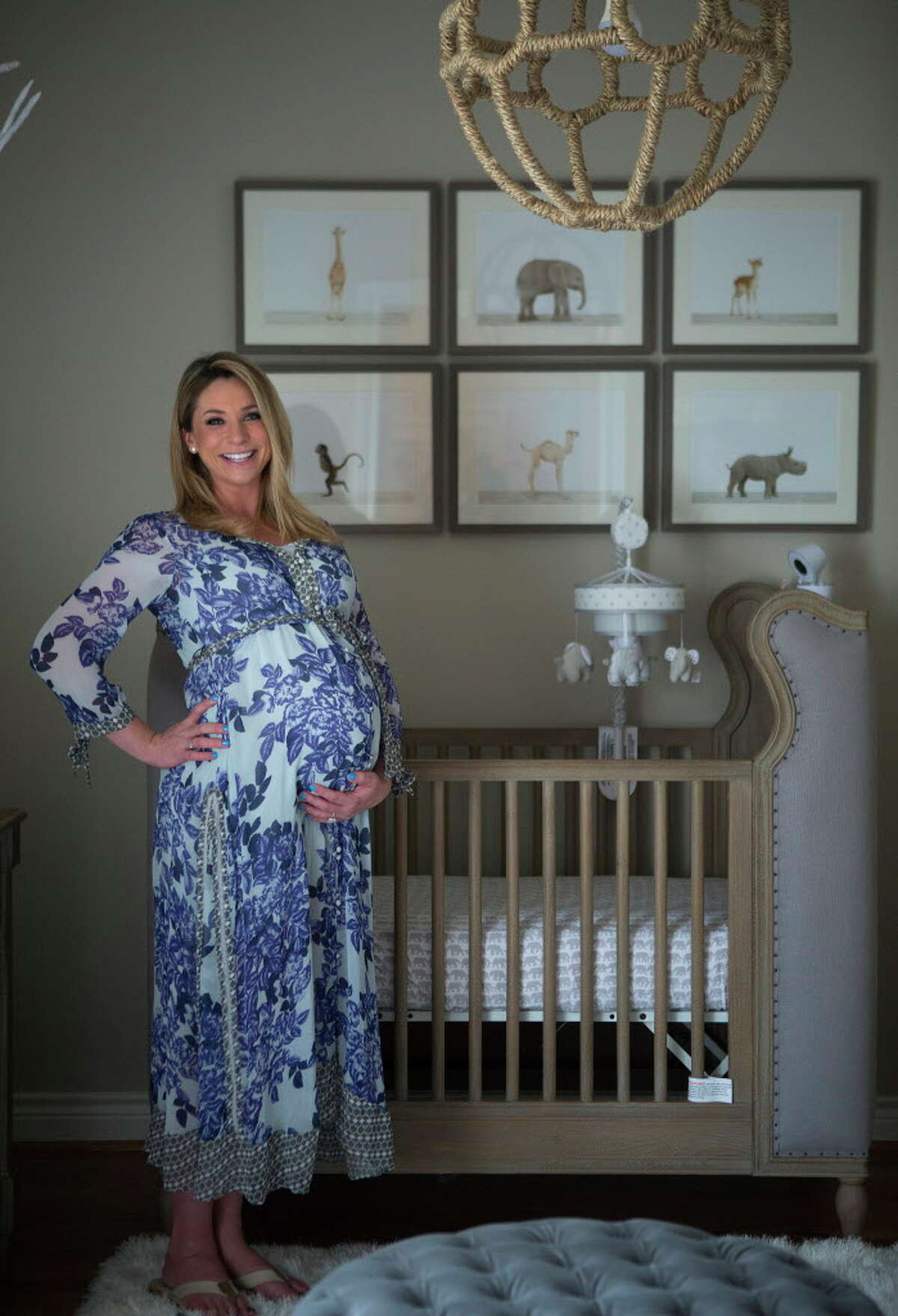 Chita Craft is making final preparations for the birth of her and Lane's son, Les William Craft, inside their Houston home Wednesday, March 1, 2017. Wednesday was the baby's due date.
