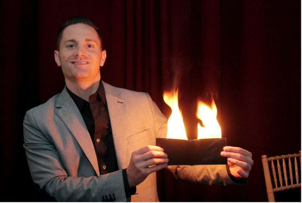 The Magic Man, also known as Phil Deutsch, a seven-year Stamford resident, is a professional magician and illusionist, who's been crafting his skill since he was 7 years old. He performs up to four times a week at corporate events, birthday parties and bar mitzvahs throughout the East Coast.