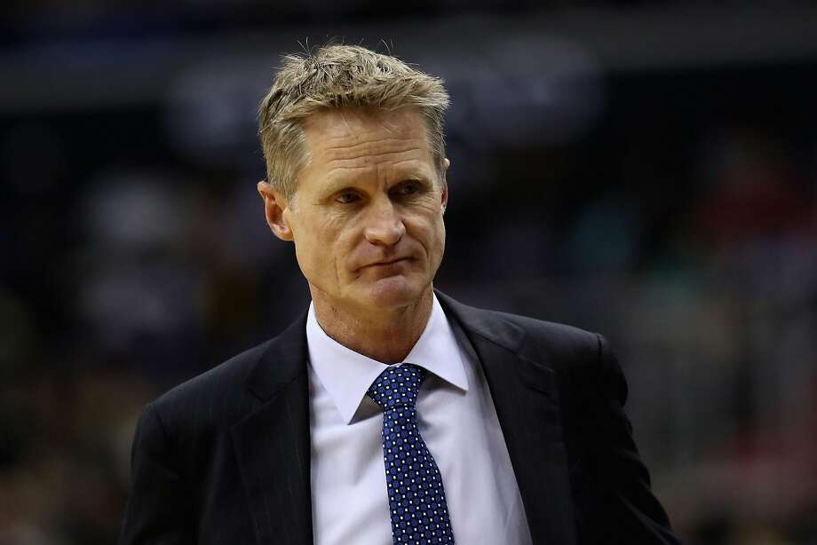 Head coach Steve Kerr of the Golden State Warriors looks on in the first half against the Washington Wizards at Verizon Center on February 28, 2017 in Washington, DC.  Photo: Rob Carr, Getty Images