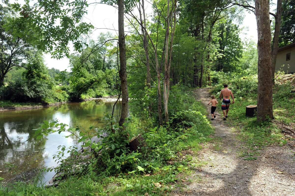 A path along the Battenkill leads to the grounds and sandbar at The Georgi on the Battenkill on Saturday, Aug. 15, 2015, in Shushan, N.Y. (Cindy Schultz / Times Union)