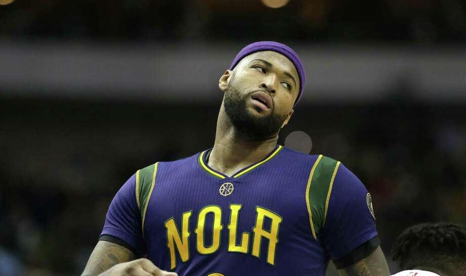 New Orleans Pelicans forward DeMarcus Cousins (0) reacts to a call during the first half of an NBA basketball game against the Dallas Mavericks in Dallas, Saturday, Feb. 25, 2017. (AP Photo/LM Otero) Photo: LM Otero, STF / Associated Press / Copyright 2017 The Associated Press. All rights reserved.