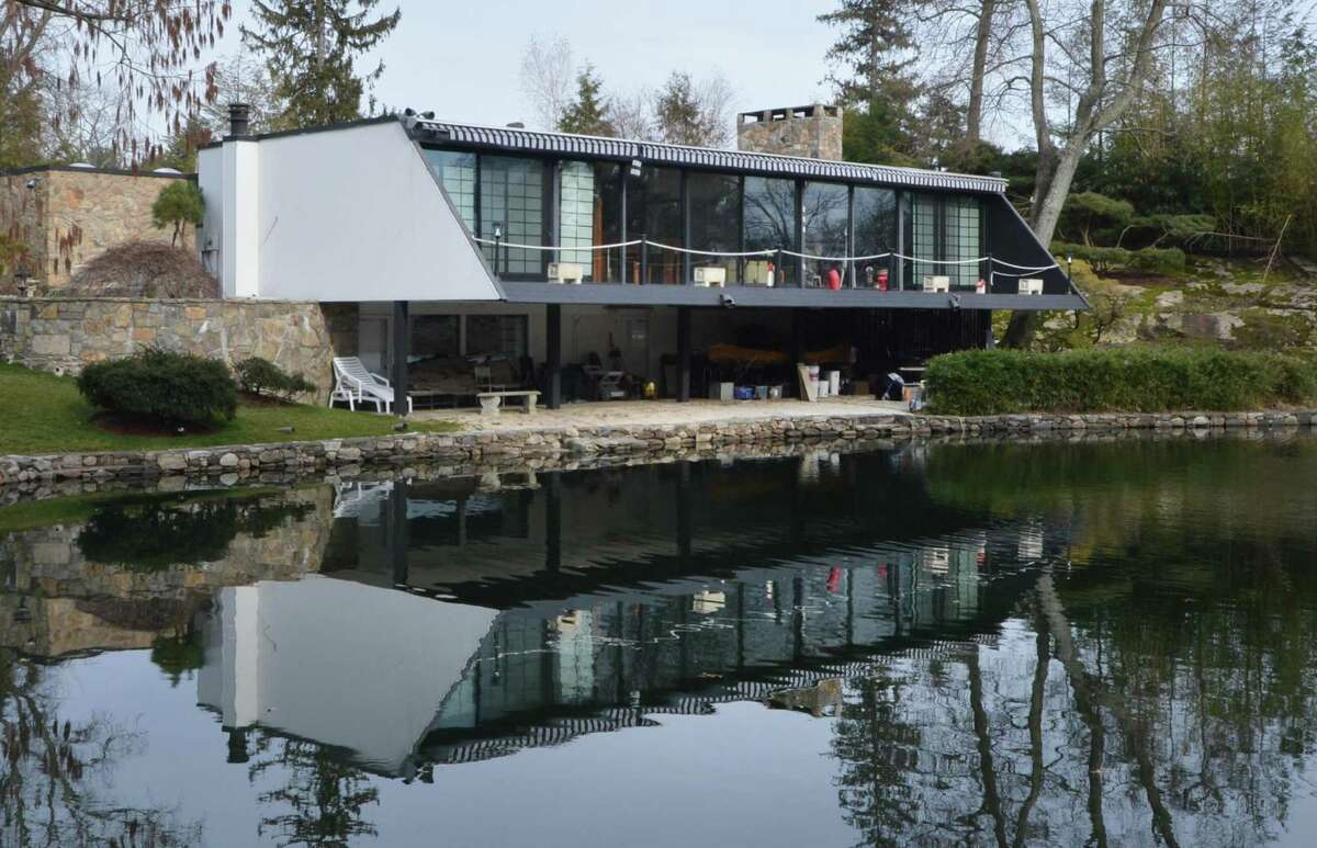 The Bauhaus style Allen House designed by Chicago architect Roy Binkley Jr. Built in 1958 it is the only know example of his work in Westport and is on The National Register of Historic Places in Westport Conn. on March 1, 2017