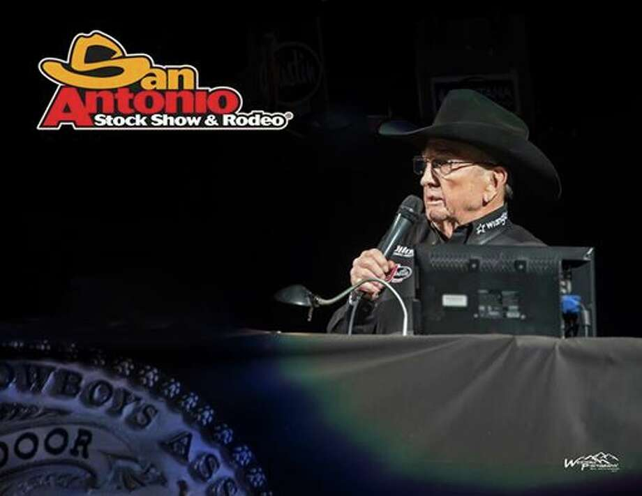 Hadley Barrett, the voice of the San Antonio Stock Show & Rodeo for 28 years, passed away Thursday, March 2, 2017, at the age of 87. Photo: Courtesy, San Antonio Stock Show & Rodeo