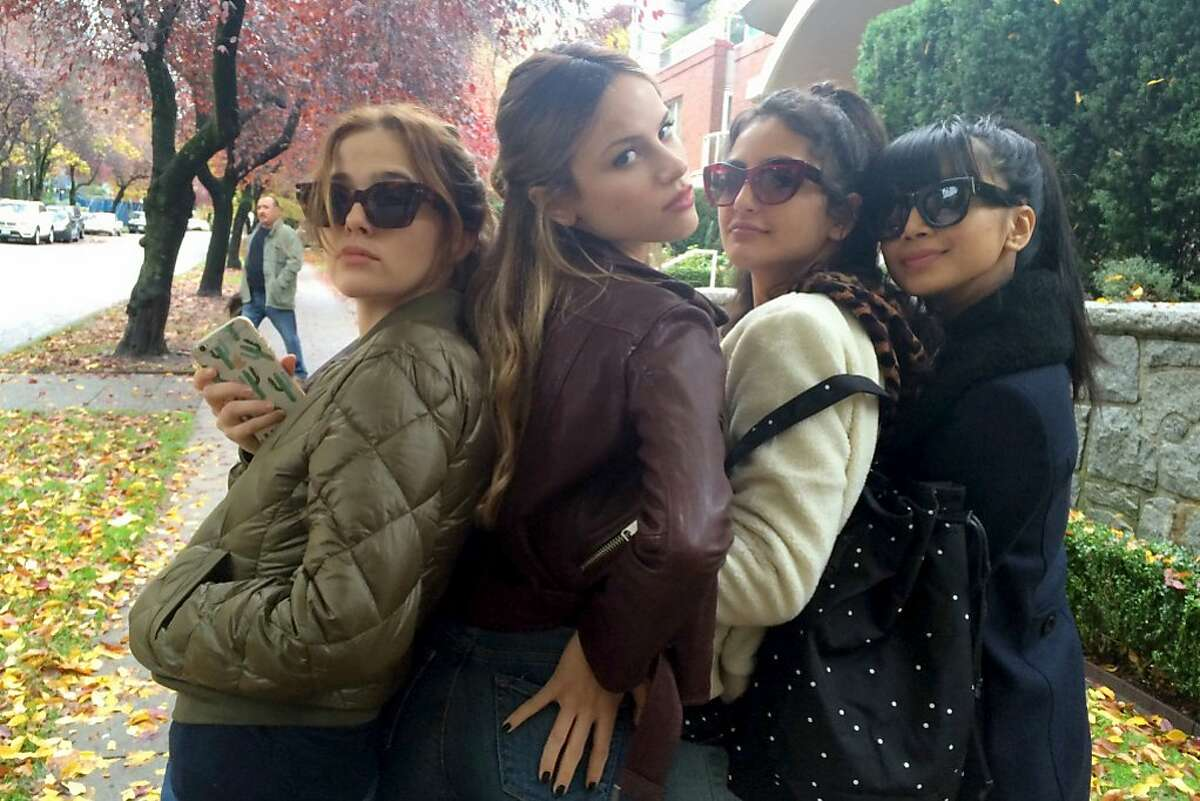 """(L-r) Zoey Deutsch, Halston Sage, Medalion Rahimi and Cynthy Wu in """"Before I Fall."""" MUST CREDIT: Awesonemess Films"""