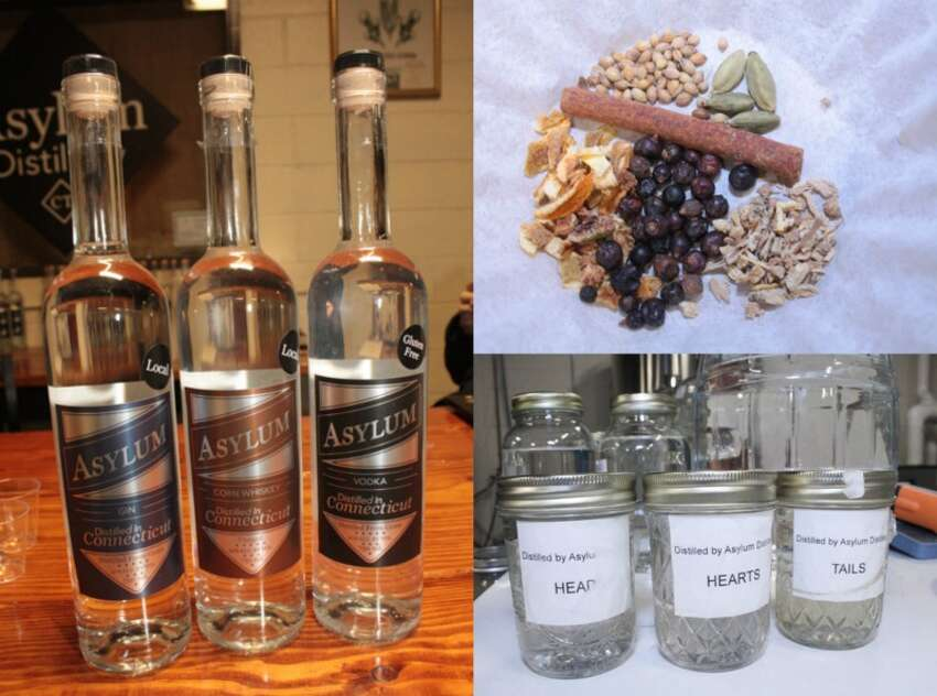 Asylum Distillery ,259 Asylum Street, Bridgeport Products: gin, vodka, whiskey.When to visit: Thursday-Saturday 4-6 p.m. Click ahead to see distilleries you can visit in Connecticut.
