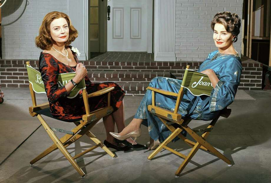 "Susan Sarandon (left) plays Bette Davis and Jessica Lange portrays Joan Crawford in FX's limited series ""Feud: Bette and Joan,"" which chronicles the actresses' infamous rivalry. It premieres Sunday. Photo: FX / TNS"