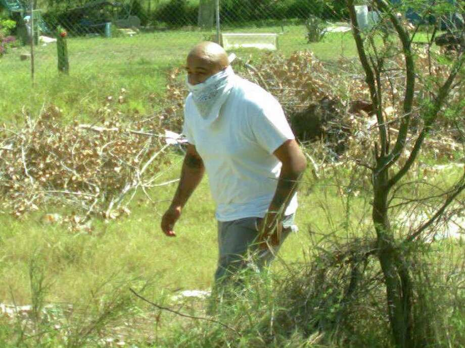 The Hidalgo County Sheriff's Office is searching for the man pictured here who is accused of stealing a surveillance camera and tools to prevent illegal dumping from the county on an unknown date at the end of February 2017. Photo: Courtesy/Hidalgo County Sheriff's Office
