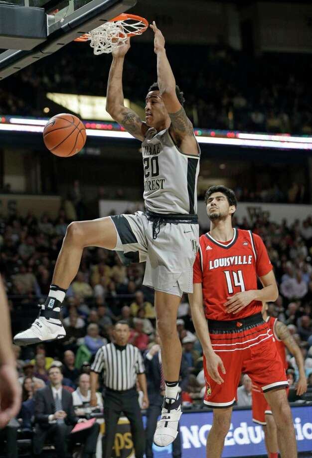 5. John Collins, Wake ForestAge/Height: 19, 6-9Undersized for the small-ball center spot he played at Wake Forest and without great length, Collins was too productive to overlook with potential to add perimeter shooting. Photo: Chuck Burton, STF / Copyright 2017 The Associated Press. All rights reserved.