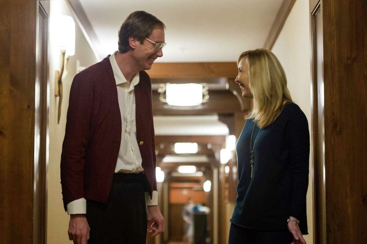 This image released by Fox Seachlight Pictures shows Stephen Merchant, left, and Lisa Kudrow in a scene from