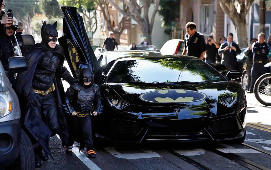 "Miles Scott gets his wish as S.F. becomes Gotham in ""Batkid Begins."" Photo: Warner Bros."