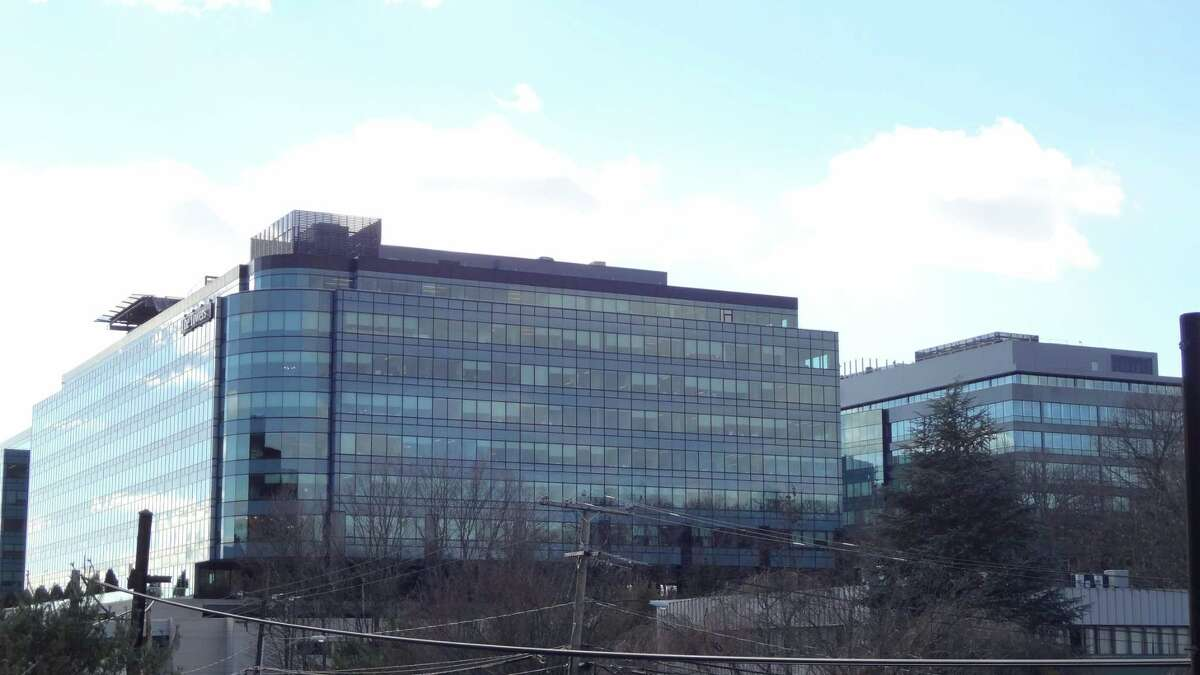 GE Capital's headquarters at 901 Main Ave. in Norwalk, Conn. in January 2016, when General Electric announced plans to relocate its Fairfield headquarters to Boston in the midst of a wholesale divestment of GE Capital units. GE reports having more than 1,000 people in Norwalk today, below the 1,900 reported in mid-2015 in a city report tracking the largest employers.