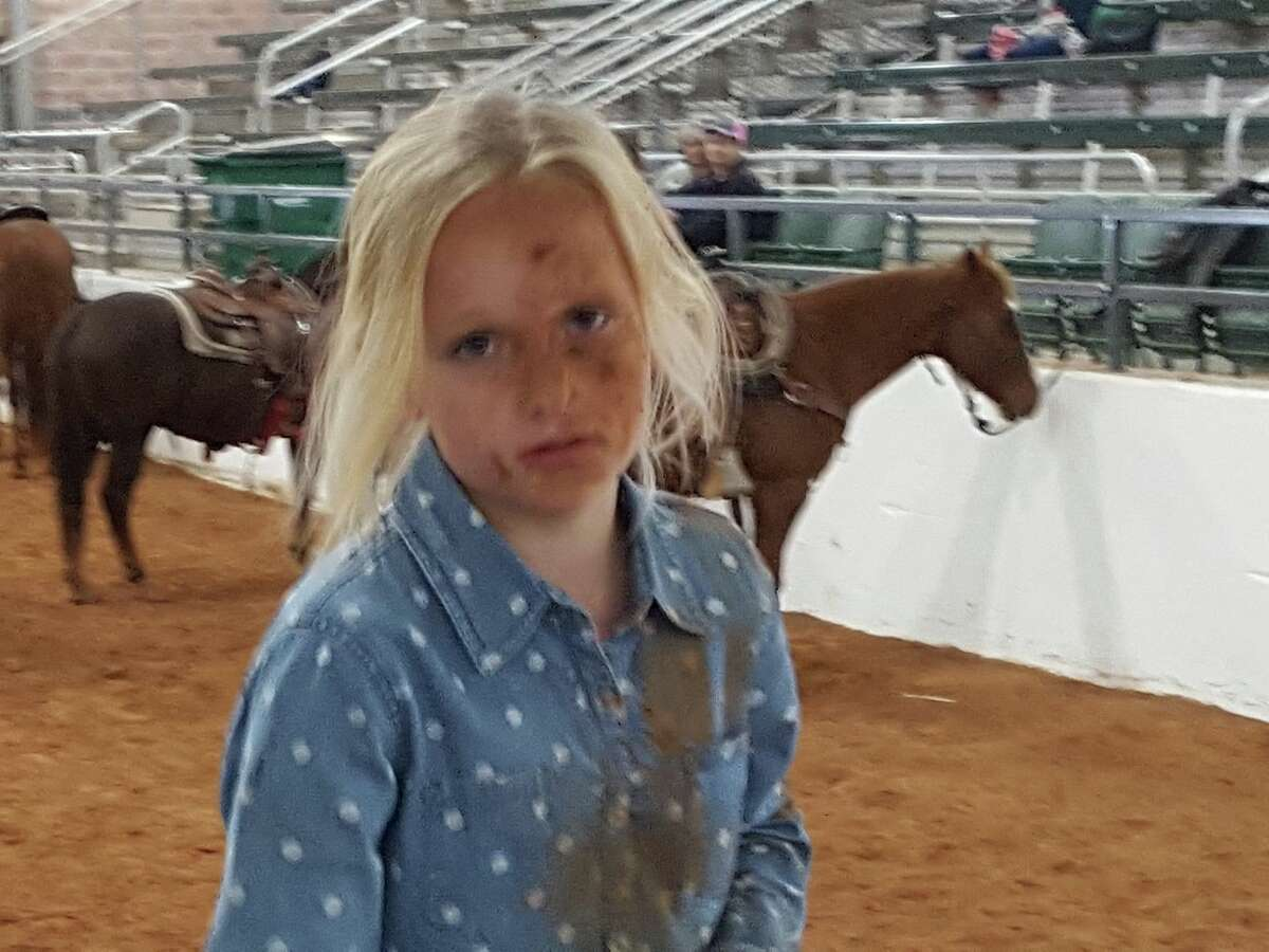 Kameryn White is a 3rd grader who lives about 3 hours north of San Antonio in Hico. At 8 years old, she became a Facebook hit when her family shared a video on Jan. 21. The 26-second clip shows Kameryn falling off a horse into a