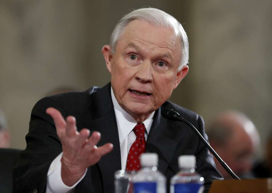 On Jan. 10, 2017, then-Attorney General-designate, Sen. Jeff Sessions, R-Ala., testifies on Capitol Hill in Washington at his confirmation hearing before the Senate Judiciary Committee. Thursday, he recused himself from investigations into Russia. Photo: Alex Brandon, Associated Press